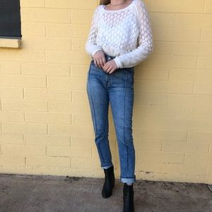 LC white sweater